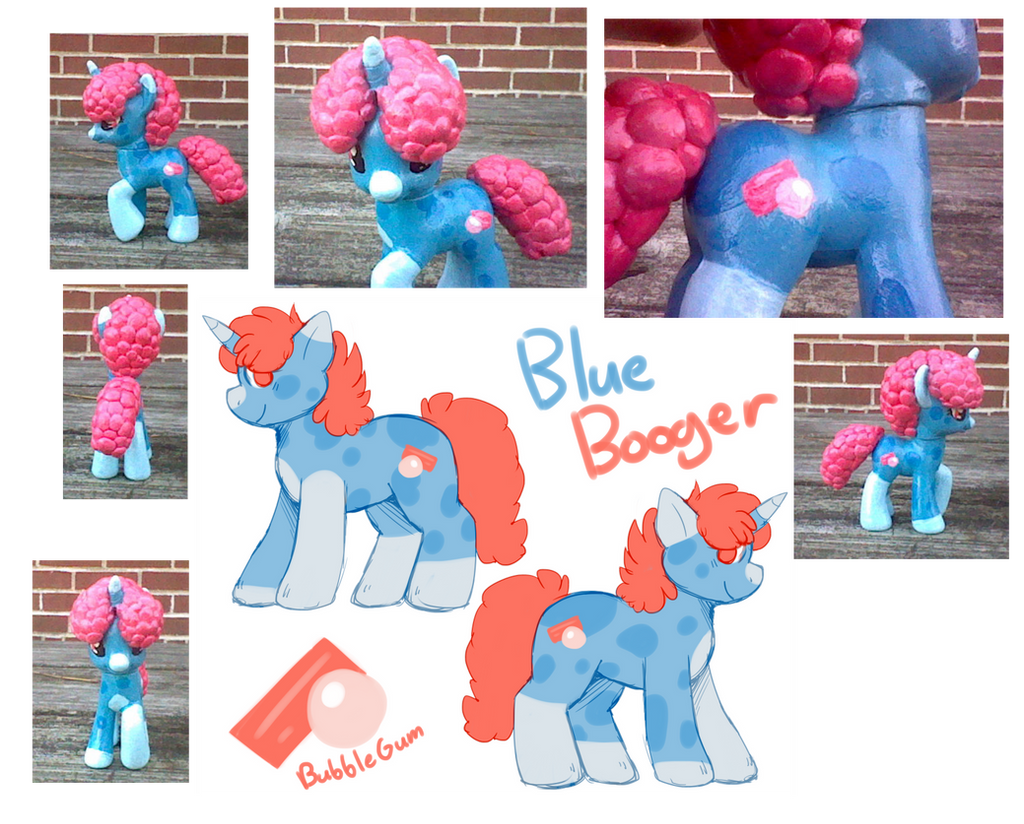 Blue Booger Pony by Atomic52