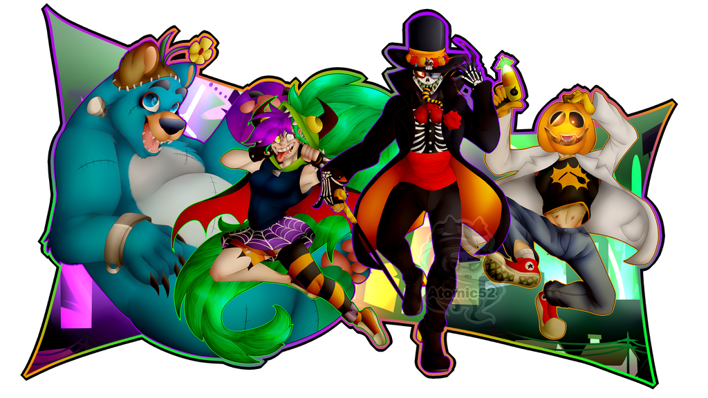 Villainous Halloween Wallpaper by Atomic52