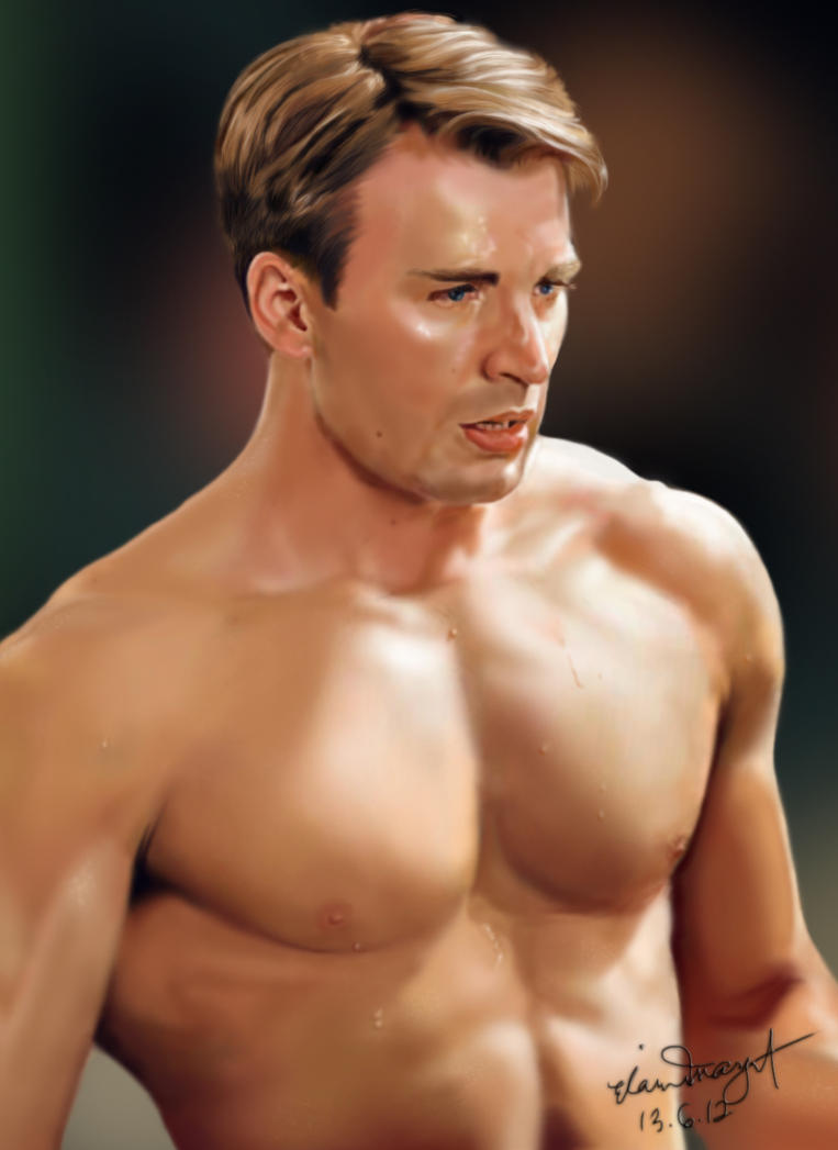 Chris Evans as Steve Rogers / Captain America by dbrytpurl09