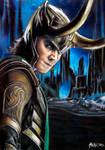 Tom Hiddleston as Loki in Jotunheim