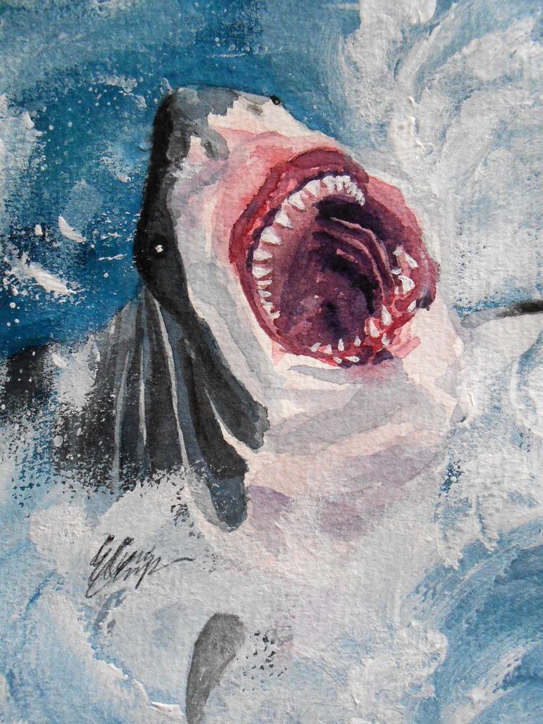 shark birthday card by elainaunger on deviantart, Birthday card