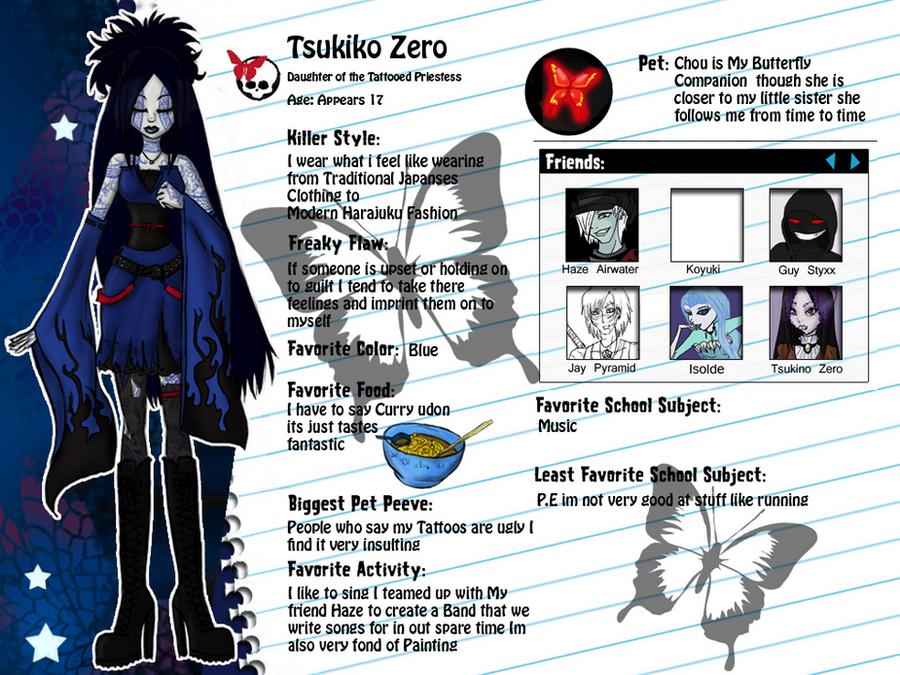 Tsukiko Zero Bio by PrincessAbiliss