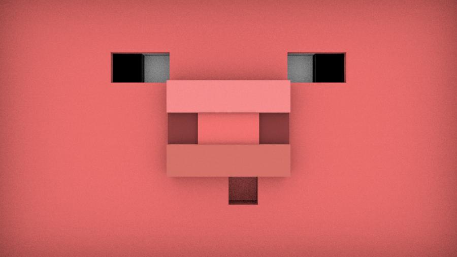 Minecraft Pig Face Pig Face Minecraft 3d ...