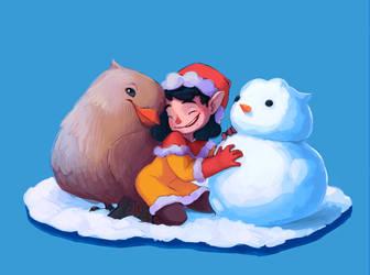 Snow bird by margieeee