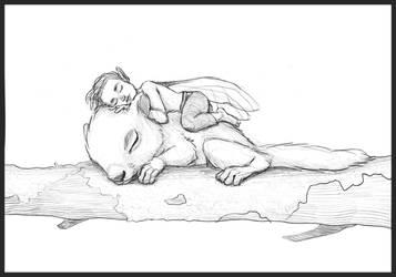 Squirrel + elf by margieeee