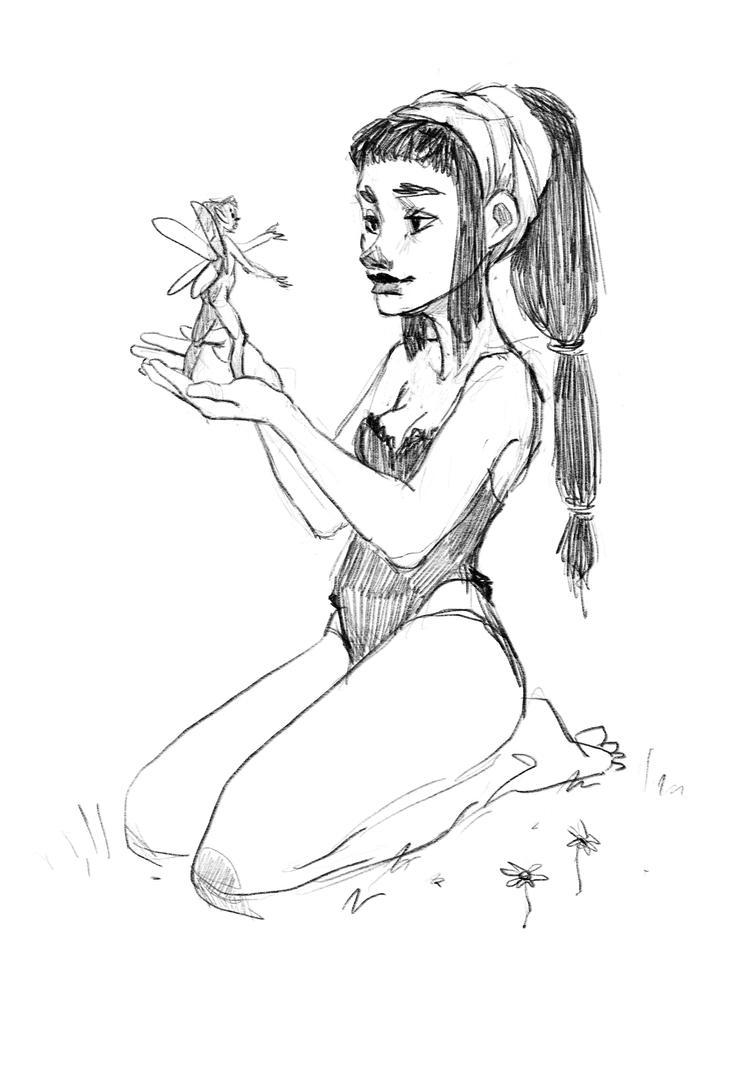 Forest girl + elf by margieeee