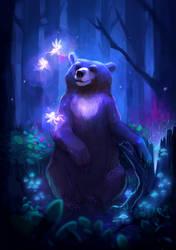 Bear And Faeries by margieeee