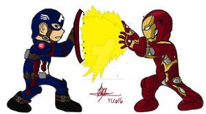 Ironman VS captain america CIVIL WAR FANART