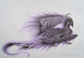 Violet dragon by End-of-Horizon