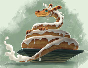 Cinnamon Roll Dragon