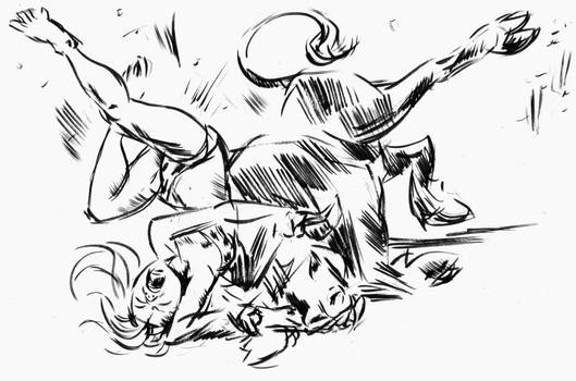 Zelda Bull Cactch Sketch 5
