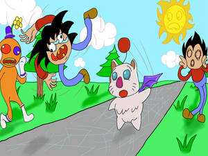 THE DAY GOKU TRIPPED OVER A MOOGLE!!!!!