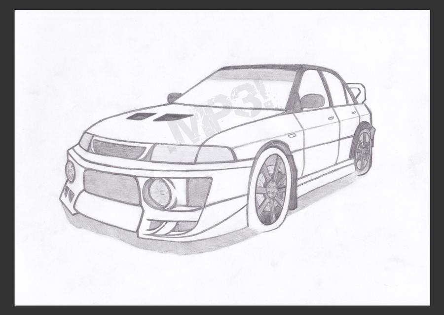How to Draw a Mitsubishi Pajero Sport / Как нарисовать Mitsubishi ...