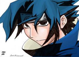 sasuke coloured by sarrahfm