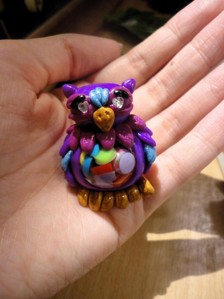 Purple Bead Owl by Lucky101212