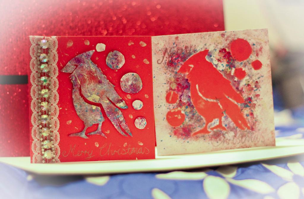 Cardinal Christmas Cards by Lucky101212