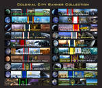 Colonial City Banner Montage