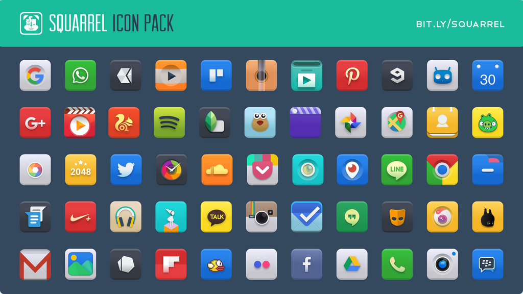 squarrel icon pack for android by charmeleo on deviantart