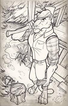 INKTOBER 6 - Lumber Jaguar