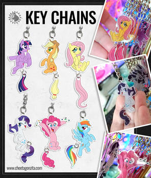 Dangly Keychains - Ponies