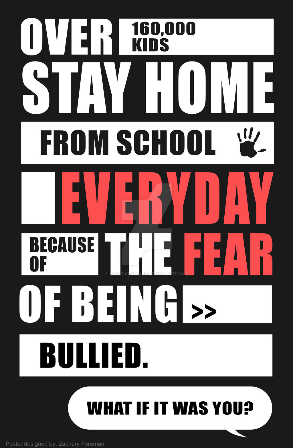 Poster design deviantart -  Anti Bullying Poster Design 1 By Provokedbeast