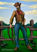 A Real Cowboy in the West by SkyFitsJeff
