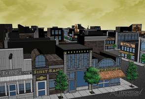 Scene Design: Small Town by SkyFitsJeff