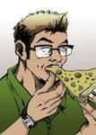 Enjoying a Slice