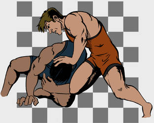 Study: Wrestling by SkyFitsJeff