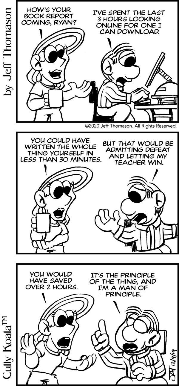 Comic - Man of Principle