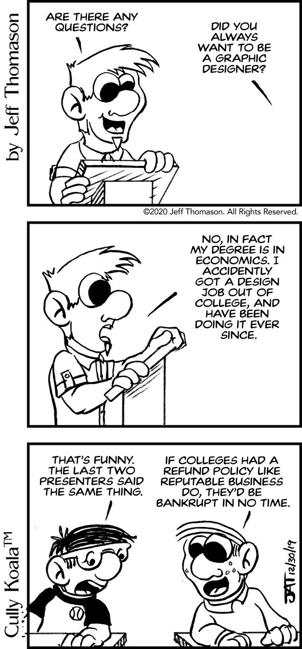 Comic - College Degree Refund