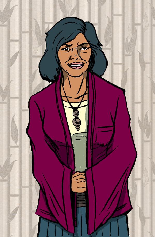 Character Design - Elderly Asian Woman