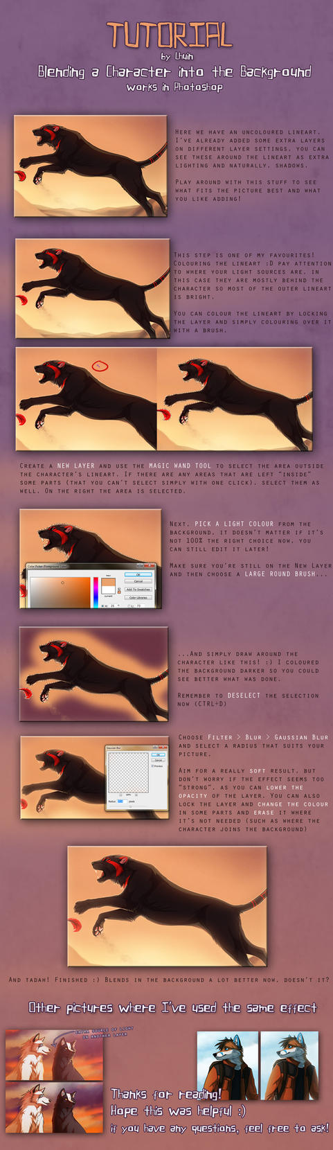 Tutorial - Blending a Character into the BG by Lhuin