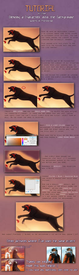 Tutorial - Blending a Character into the BG