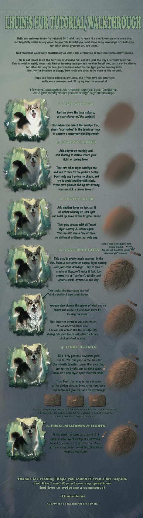 Fur tutorial/walkthrough (mainly longer fur) by Lhuin