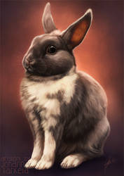 Elvis the Bunny by Lhuin