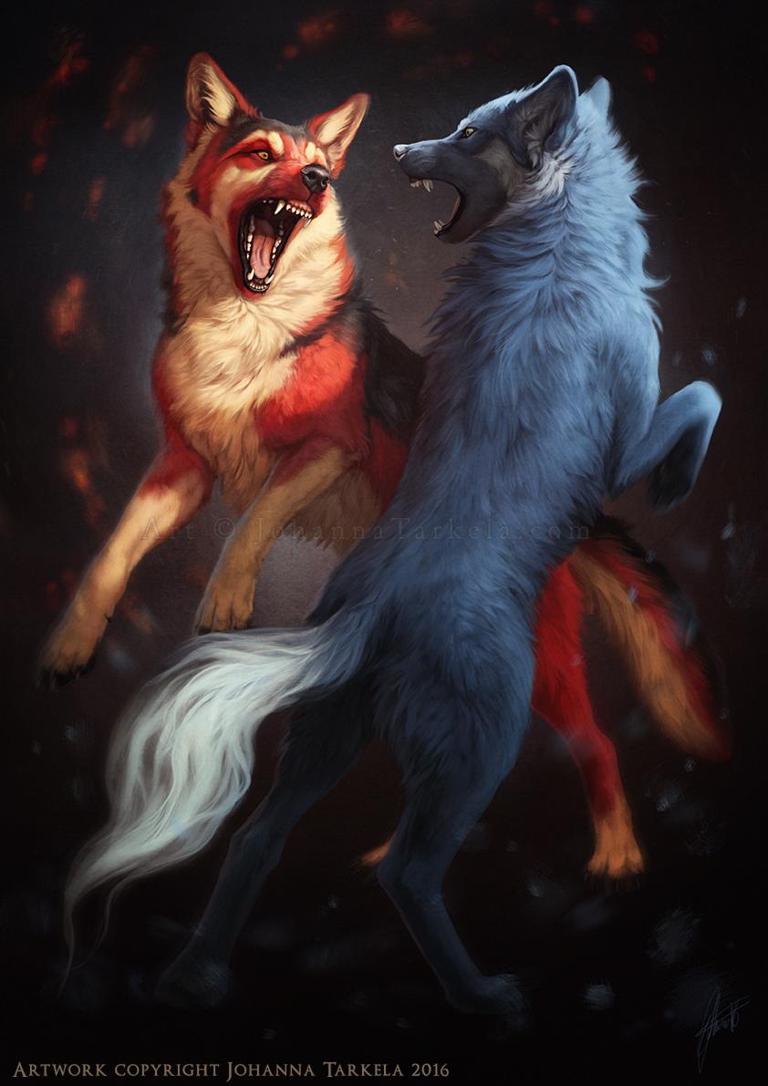 Ice la fox and fire