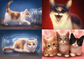 Kitten Galore by Lhuin