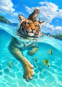 A small swim for a tiger