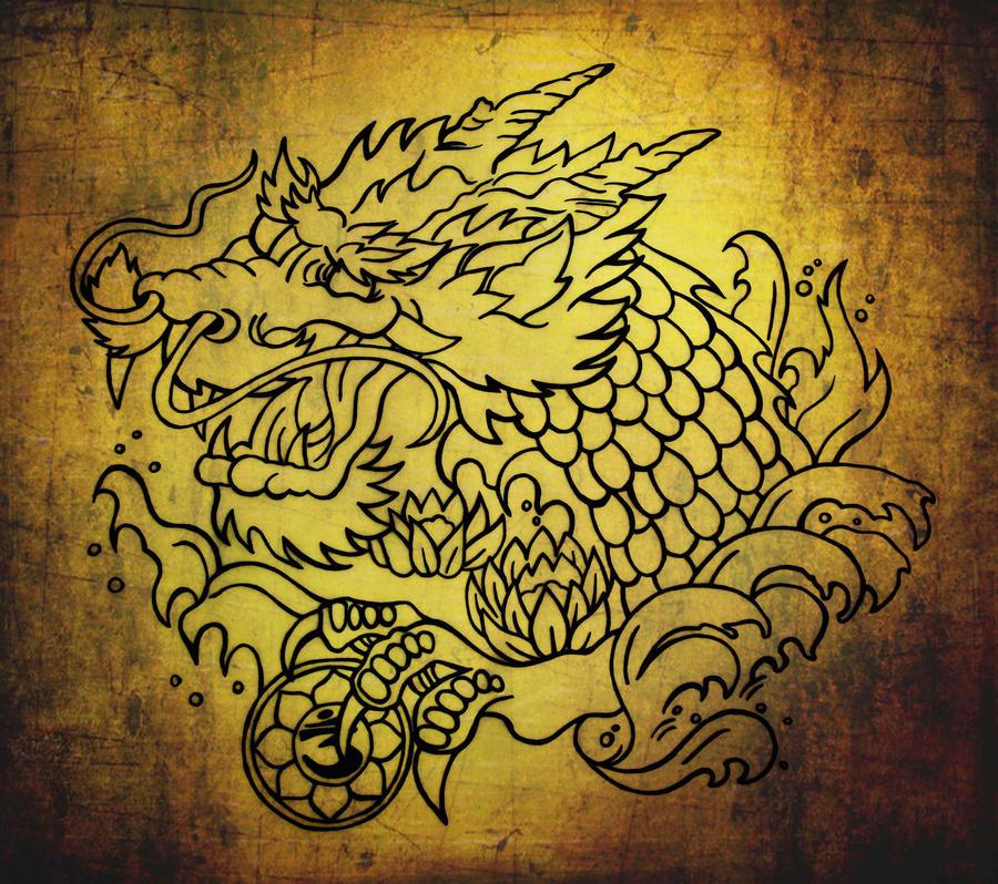 tibetan dragon tattoo design by blacksilence92 on deviantart. Black Bedroom Furniture Sets. Home Design Ideas
