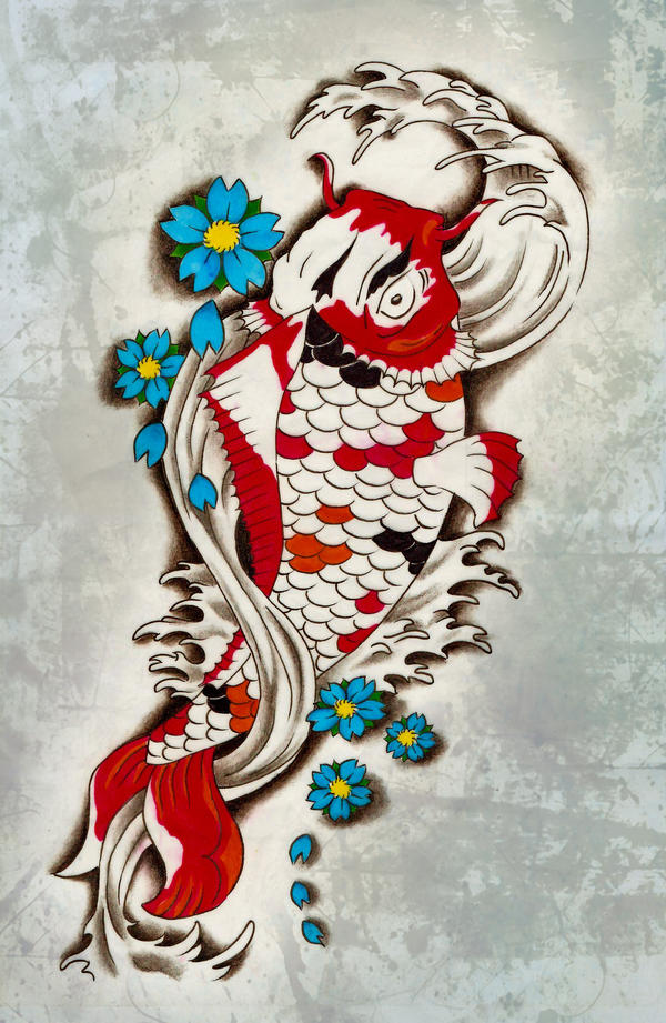 Koi Fish Tattoo Design by blacksilence92 on deviantART
