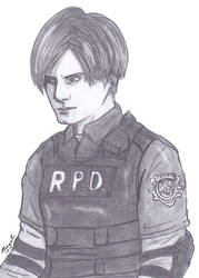 RE2 Remake Leon by Peazil