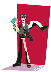 Ota and Misaki by Sims76