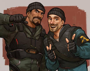 Gabriel Reyes and Fred Spooker/Chris Colon Ghosty by Pit-Zagufull