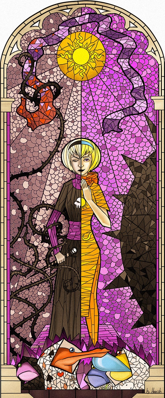 Stained Glass Rose Lalonde by Mizu3D