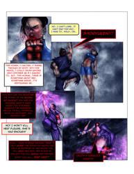 Evil ryu vs chun li pg 6 by Tree-ink