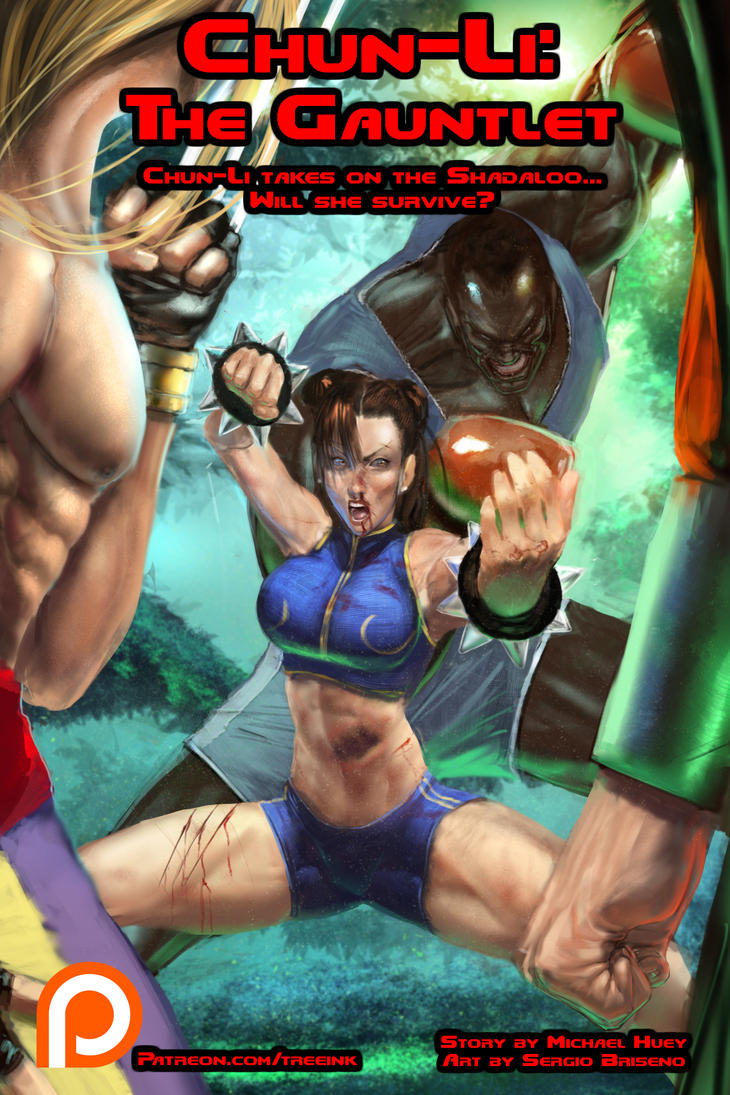 Chun-Li: The Gauntlet Cover by Tree-ink