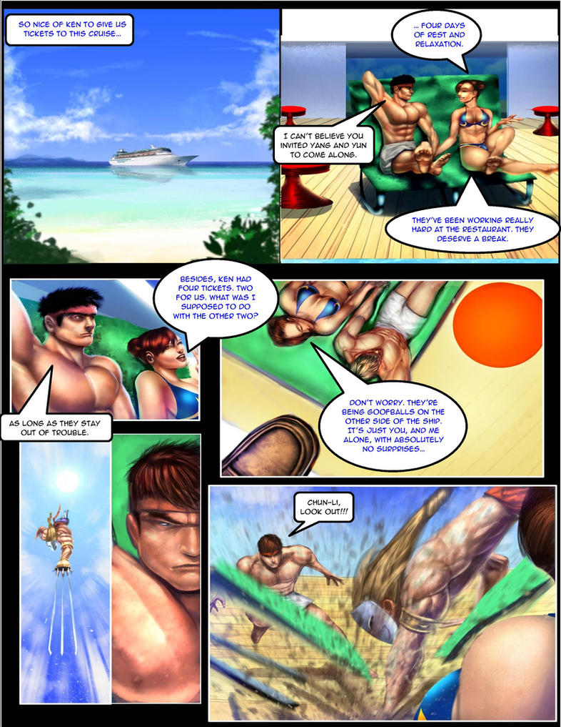 CHUN LI: THE GAUNTLET page 1 by Tree-ink