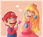 Mario and Peach!
