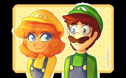Daisy and Luigi!